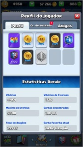 CONTA CLASH ROYALE LVL MÁX COM TODAS AS CARTAS