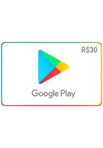 Gift Card Digital Google Play  30 Recarga