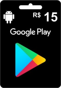 Gift Card Google Play R$15,00