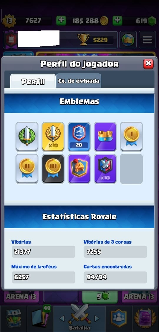 Clash Royale XP 13 - 35 Cartas NIVEL 13 (FULL)