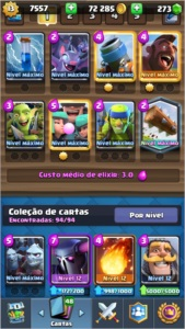 CONTA CLASH ROYALE LVL 13 + CV9 SEMI FULL CLASH OF CLÃS