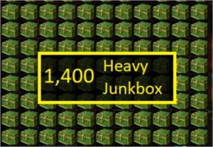 1,400 x [Heavy Junkbox] para o título [O Insano] do WoW