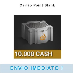 Cartão Point Blank - 10.000 Cash - Pronta Entrega