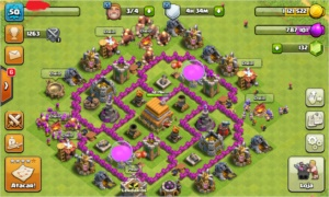 Conta Clash Of Clans cv6 full indo para cv7