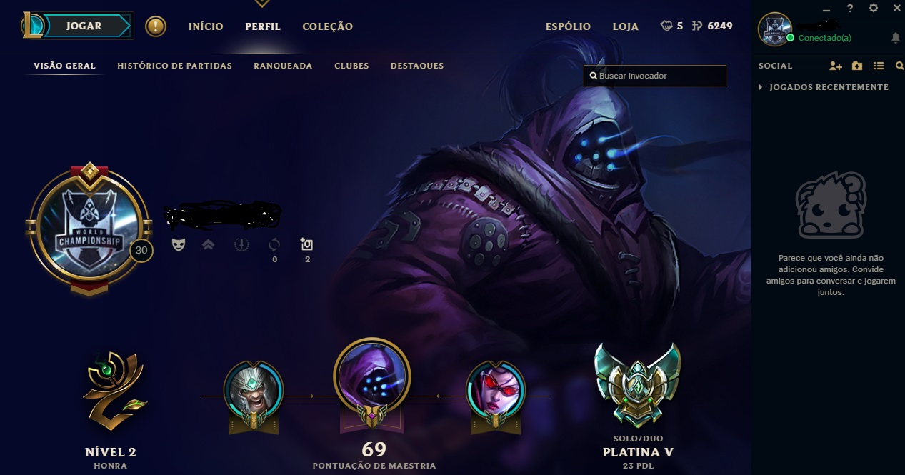 Conta League of Legends Platina
