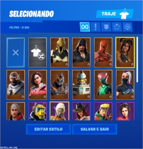 Conta Fortnite 26 SKINS 24 PICARETAS + 950 VBUCKS