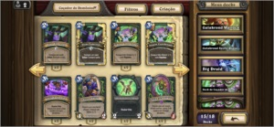 CONTA TOP HEARTHSTONE 70% DAS CARTAS