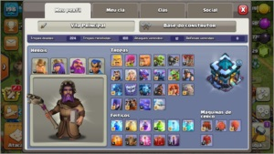 Conta Clash of clans CV 13 quase Full + Vila do C. Full