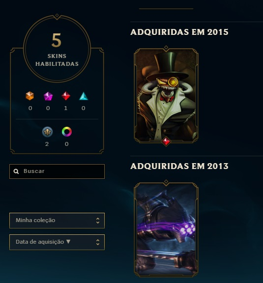 CONTA LEAGUE OF LEGENDS